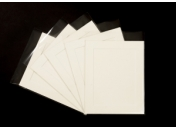 Pack of 10 Cream Photo Mounts, Back & Bag
