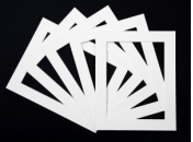 Pack of 5 White  Photo Mounts