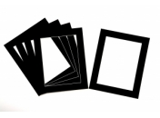Pack of 5 Black Photo Mounts