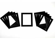 Pack of 10 Black Photo Mounts