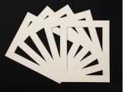 Pack of 5 Cream Photo Mounts