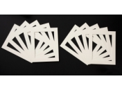 Pack of 10 Cream Photo Mounts