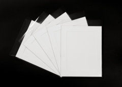 Pack of 10 White Photo Mounts, Back & Bag