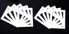 Pack of 10 White Photo Mounts